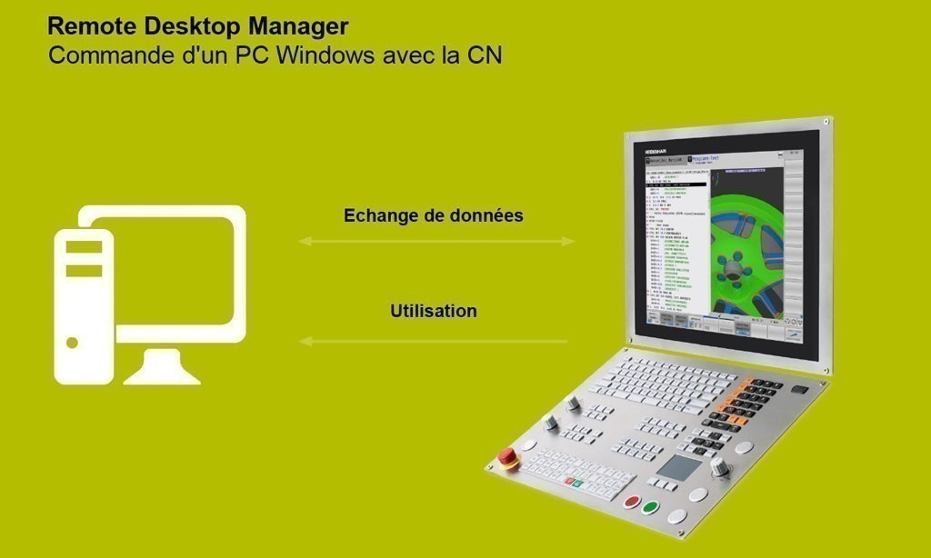 Remote Desktop Manager – Utilisation d'applications Windows sur la commande